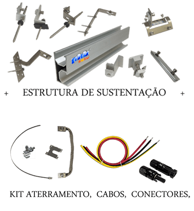 Acessórios Estruturais de Sustentação dos Módulos PHB